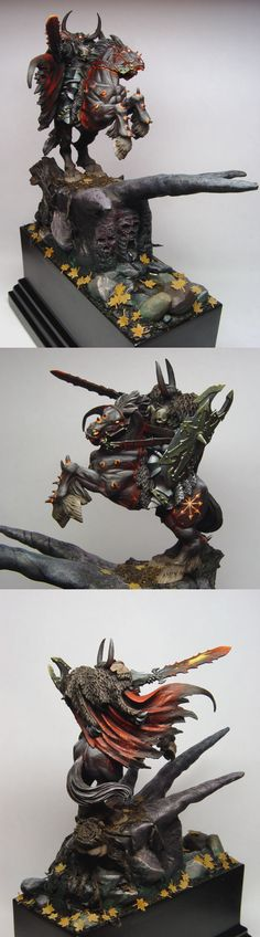 The Internet's largest gallery of painted miniatures, with a large repository of how-to articles on miniature painting Warhammer Wood Elves, Figurine Warhammer, Warhammer 40k Miniatures, Warhammer Fantasy, Reaper Miniatures, Fantasy Miniatures, Chaos Legion, Chaos Lord, Fantasy Figures