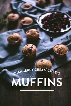 Cranberry And Cream Cheese Muffins What's For Breakfast, Breakfast Recipes, Dessert Recipes, Biscuits, Cream Cheese Muffins, Cranberry Muffins, Cookies, Sweet Bread, Pain