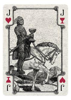 Arcana Playing Cards by Chris Ovdiyenko on Kickstarter.  Jack of Hearts/Cups