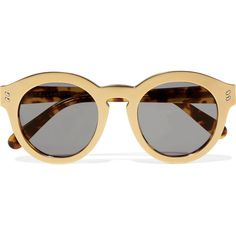 dd7e98985b6eb Stella McCartney Round-frame gold-tone and acetete sunglasses found on Polyvore  featuring accessories