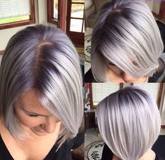 blond with roots - Bing images Brown Blonde Hair, Platinum Blonde Hair, White Blonde, Icy Blonde, Medium Blonde, Short Blonde, Haircut And Color, Hair Color And Cut, Transition To Gray Hair