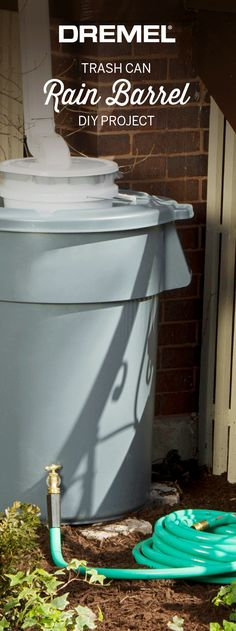 You'll be collecting rain water from all those spring showers in no time with this rain barrel DIY. This one's a must for your spring to do list! #rain #greenliving #ecotips #ecofriendly #upcycling