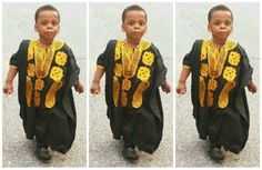 19 Male Kids Awesomely Rocking The Nigerian Agbada Outfit - AfroCosmopolitan