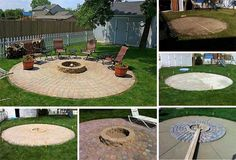 A Patio and Fire Pit - 27 Best Fire Pit Ideas and Designs | Home DIY Tutorials by Pioneer Settler at http://pioneersettler.com/fire-pit-ideas-designs/