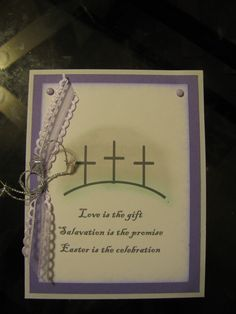 Love is the gift  Salvation is the promise  Easter is the celebration