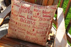 18x18 Believe  Pillow Cover Set by KelsCozyCorner on Etsy
