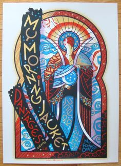 2011 My Morning Jacket - LA I Concert Poster by Guy Burwell