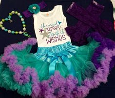 Little Mermaid Birthday Outfit First by KeepsakeKonnections