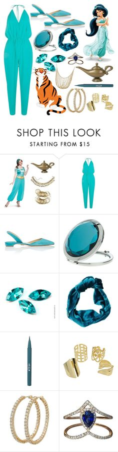 """Jasmine"" by chey-love ❤ liked on Polyvore featuring Boohoo, Paul Andrew, Miss Selfridge, Cult Gaia, Disney, Stila, Roberto Coin and Djula"