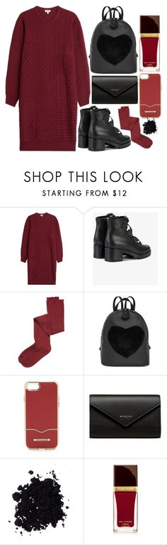 """""""Kenzo Knitted Wool Dress"""" by faesadanparkaia ❤ liked on Polyvore featuring Kenzo, Valentino, Intimately Free People, Rebecca Minkoff, Balenciaga and Tom Ford"""