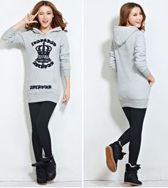 TC000896 Thick coat autumn and winter hoodie for women