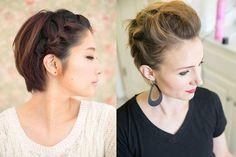 Voici 10 coiffures à essayer pour les cheveux courts à base  de tresses, de boucles, d'accessoires ou encore de chignon pour varier les plaisirs.