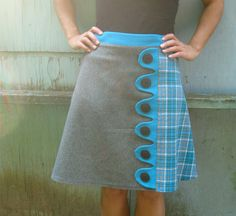Square Root asymmetrical a-line skirt Sz 2 by LoveToLoveYou