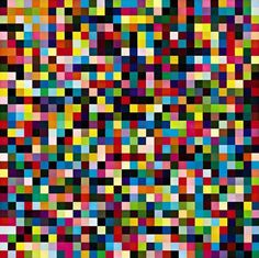 Gerhard Richter, 1024 Couleurs  1974, 96 cm x 96 cm, Huile sur toile  Catalogue Raisonné: 356-3. Tomado de http://www.gerhard-richter.com/art/paintings/abstracts/detail.php?paintid=6083#
