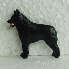 Schipperke Brooch Dog Breed Jewellery Handpainted Handcrafted Resin