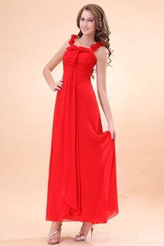 Spaghetti Straps Zipper Sleeveless Empire Waist Ankle-length Evening Formal Dresses