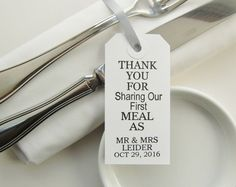 80 servet banden-bruiloft bruiloft tabel Decor-dank u voor delen-elegante WhiteTags-unieke bruiloft gunsten-bruiloft-receptie-huwelijk-tabel