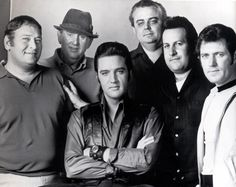 The ORIGINAL photo! From left to right: Alan Fortas, Colonel Tom Parker, Elvis (sitting), Lamar Fike, Joe Esposito and Charlie Hodge, June 1968.