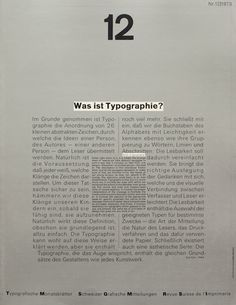 Cover from 1973 issue 12 of Typographische Monatsblätter [by Wolfgang Weingart]