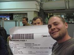 Giant boarding pass