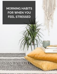 THE BEST HABITS TO DO WHEN YOU'RE FEELING STRESSED OR ANXIOUS. mind over matter  #morningroutine #sostressed #momlife Feeling Stressed, How Are You Feeling, Morning Routine Checklist, Positive Quotes For Women, Morning Habits, Mind Over Matter, Good Habits, Self Care Routine, Health And Fitness Tips