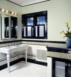 Art Deco Bathrooms Ideas - Robin Muto (http://avaliving.com)