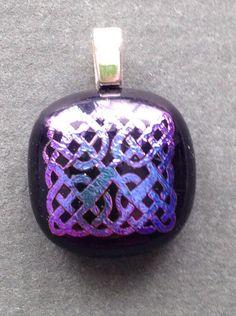 celtic knot on glass $26