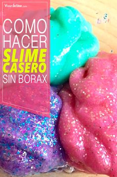 hacer: to make Diy For Kids, Crafts For Kids, 4 Kids, Children, Party Deco, Diy Slime, Ideas Para Fiestas, Unicorn Party, Activities For Kids