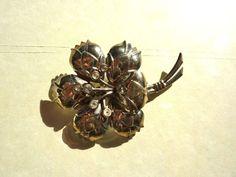 Large Flower Brooch or Pin w Rhinestones by BonniesVintageAttic, $24.95