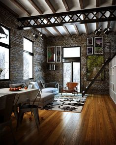 "21.6k Likes, 111 Comments - Architecture & Design Magazine (@d.signers) on Instagram: ""Wood + Brick + Steel. Loft designed by Rodrigo Vaz sa Silva #d_signers --- #design #designer…"""