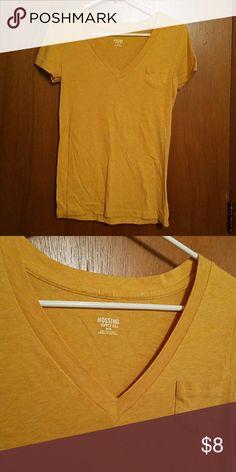 V neck pocket tee V neck pocket tee in a darker mustard yellow Mossimo Supply Co. Tops Tees - Short Sleeve