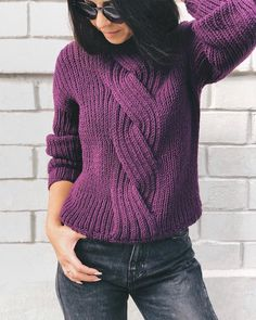 Aran Knitting Patterns, Knitting Designs, Baby Knitting, Mohair Sweater, Cozy Sweaters, Sweater Weather, Crochet Clothes, Distressed Denim, Knitwear