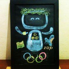 Arte em lousa por @clebcoli sob encomenda de @emminhafesta Comemoração de 10 anos de existência da ZAP. 10 anos não são 10 meses e a ZAP em sua existência, pode acompanhar as olimpíadas no Brasil. #arteemlousa #arteemlousaporclebcoli #10anoszap #emminhafesta