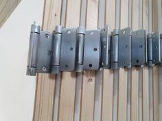 Our prehung doors come with many options. Here's our spring hinge's that make the door spring back into the frame. Available from our Showrooms