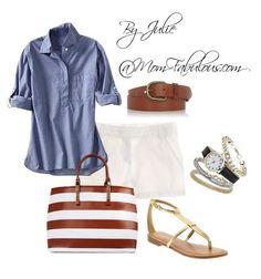 Denim shirt, white s