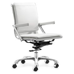 Great smaller desk chair; Manhattan Plus Modern Office Chair | Overstock.com