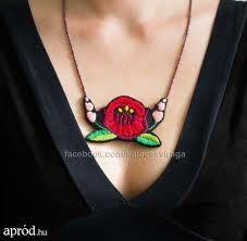 Kalocsa - necklace Hungarian Embroidery, Folk Art, Stitches, Beading, Jewelry Design, Necklaces, Needlepoint, Stitching, Beads