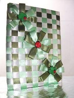 Caderno com fita de cetim Verde - Eu Encomendo Agora