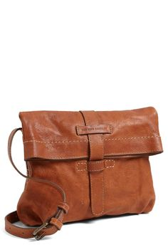 Artisan Foldover Leather Crossbody Bag by Frye on @nordstrom_rack