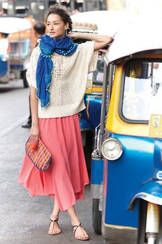 Day Wanderer Pullover & Colima Maxi Skirt #anthropologie