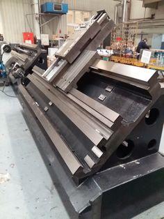 Cnc Lathe Machine, Machine Tools, Cnc Wood Lathe, Homemade Cnc, Steel Fabrication, Diy Cnc, Lathe Projects, Cnc Router, Surface Table