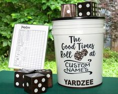 YARDzee PERSONALIZED yahtzee, family yard game, giant Yahtzee, yard dice, Yatzee lawn dice game, yard yahtzee, wedding party July 4th gift