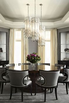 How do I modernize my Elegant Dining room furniture? How can I make my Elegant Dining room look bigger? Is it Elegant Dining room or dinning room? Elegant Dining Room, Luxury Dining Room, Dining Room Lighting, Formal Dining Rooms, Luxury Dining Tables, Dining Room Furniture, Dining Room Table, Room Chairs, Dining Chairs