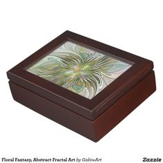 Floral Fantasy, Abstract Fractal Art Keepsake Box