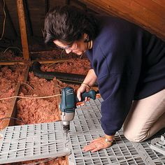 How To Install A Partial Or Full Floor In The Attic For