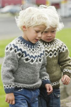 Lopapeysa - traditional Icelandic sweaters. I'm kind of obsessed with these and want them for everyone in our family, but especially Adeline.