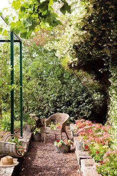 Jardín con huerto