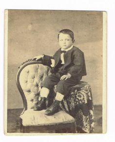 Seated Little BOY IN Reading Pennsylvania BY D D Maurer Circa 1860'S CDV | eBay