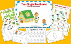 The Speech Bubble: The Gingerbread Man: Speech and Language Book Companion