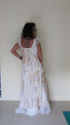 vintage inspired shabby bohemian gypsy dress medium to by wildskin, $ 245.00